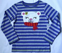 NWT Carter`s Girls Playwear Shirt Top Purple Striped with Bear Cotton 6 6X New - $12.95