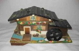"Wonderful Vintage 5"" X 10"" Japan Wood Wooden Music Box Figural House - $115.92"