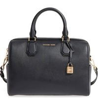 Michael Kors Mercer Black Leather Women's Duffel Bag Handbag Medium NWT ... - $237.59