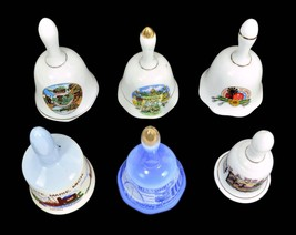 Six Bells Porcelain Ceramic Collectible City And States - $23.99