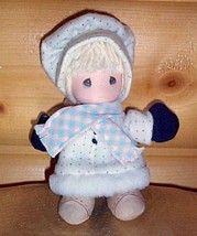 """Precious Moments 7"""" Plush Sweet Girl """"BERRIE"""" Holiday Ready in White Win... - $7.39"""