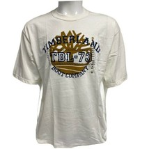 Vintage Timberland men's t shirt white short sleeve print front size M/M - $29.59