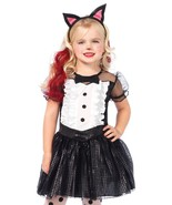 "Toddler/Girl's ""Tuxedo Kitty"" 3 Pc Halloween Costume by Leg Avenue™#c48146 - $38.70 CAD"
