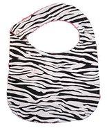 Unique Baby Trendy Print Bib Zebra Pattern - $6.99