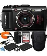 Olympus Stylus TOUGH TG-4 Digital Camera (Black) 10PC Accessory Kit Includes San - $389.99
