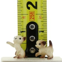 Hagen Renaker Miniature Cat Siamese Tiny Kittens Boxing and Walking Set of 2 image 2