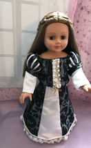 Medieval maiden historical skirt and top, handmade for American girl doll, 18 in - $30.00