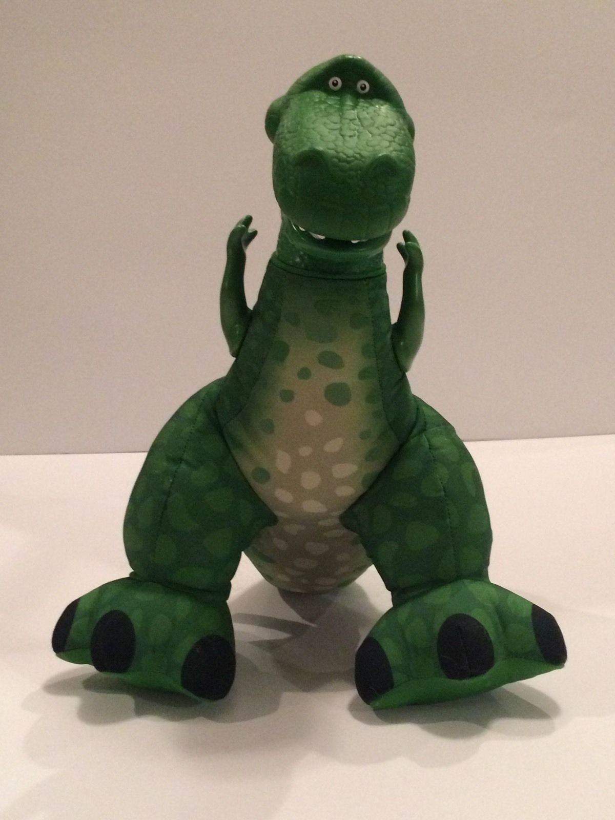 Fisher Price Green Dinosaur Plush Toy Story Plastic Head Arms Squeeze Make Roar image 3