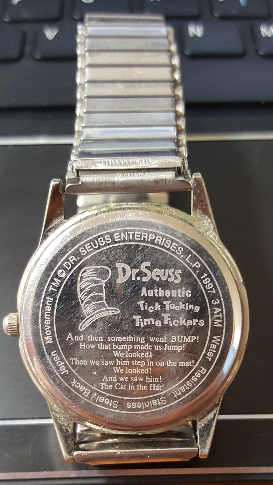 Dr Seuss Cat In The Hat Wristwatch, Tick Tocking Time Tickers, 1997