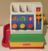Fisher Price Toy Cash Register Only Pretend Play 1994 No Coins Vintage Bell - $9.99