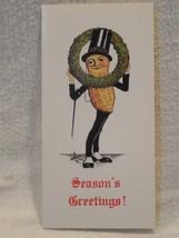 Vintage 1940's Planters Peanut Mr Peanut Christmas Seasons Greetings Card - $10.95