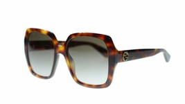 Gucci Women Sunglasses GG0096S 002 Avana Brown Gradient Lens 54mm Authentic - $184.30