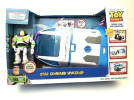 Toy Story 4 Buzz Lightyears Star Command Spaceship Glow in Dark Disney P... - $52.22