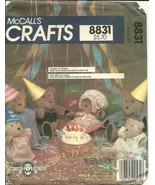 McCall's Sewing Pattern 8831 Teddy Bears New Uncut - $9.98