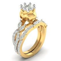 1.70 Ct Nature Inspired Skull Bridal Engagement Wedding Ring Sets 14K Gold - $346.00