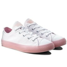 Junior Converse CTAS Ox Low Top 660719C White/Cherry Blossom Size 4 Girl... - $43.65