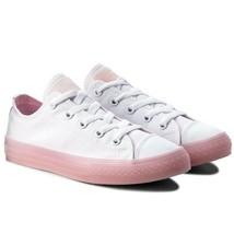 Junior Converse CTAS Ox Low Top 660719C White/Cherry Blossom Size 4 Girls Kids - $43.65