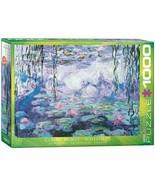 Monet Waterlilies Jigsaw Puzzles Adult Kids DIY Gift 1000 Piece Eurographics NEW - $27.75
