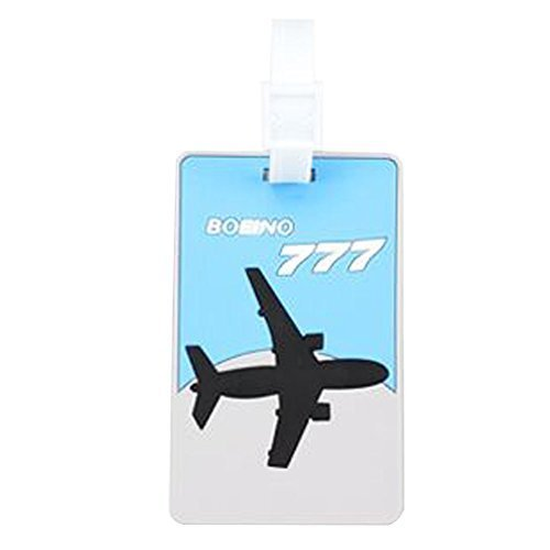 Set Of 2 Luggage Tag Bag Tags Silicone Name Tag Travel Tag [Boeing 777]