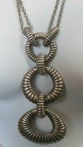 Vintage Metal Necklace and Earring Set 1965 -Pat. No. 3,176,475 - $94.05