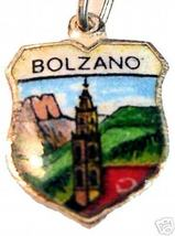 BOLZANO, ITALY: Vintage Enamel Travel Shield Charm - $15.42
