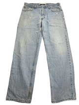Levis 550 Relaxed Tapered Leg Light Wash Blue Jeans Men's 34x32 [35x31] ... - $21.98