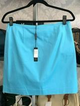 "ELIE TAHARI Tropic Sea Blue ""Alexis"" Cotton Skirt Style#E5035302 Sz 8 $1... - $108.80"