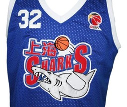 Jimmer Fredette #32 Shanghai Sharks Basketball Jersey New Sewn Blue Any Size image 3