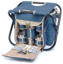 SIGHTSEER PICNIC BASKET WITH FOLDING CHAIR FOR TWO (2) - ABG - $60.00