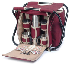 SIGHTSEER PICNIC BASKET WITH FOLDING CHAIR FOR TWO (2) - ABI - $60.00