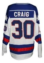 Jim Craig #30 Team USA Miracle On Ice Hockey Jersey New White Any Size image 5