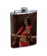 Harem Pin Up Girls D8 Flask 8oz Stainless Steel Hip Drinking Whiskey - $13.81