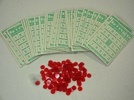 1960s Transogram Bingo Matic Bingomatic Game Part / Piece Lot - 30 Green... - $21.11