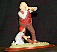"""""""Low and Outside """" by Norman Rockwell Figurine AA19-1665 Vintage image 4"""