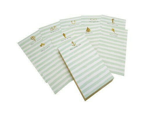 Green Inspired Stripe Inspirational List Notepads - 200 Sheets Each - NEW SEALED