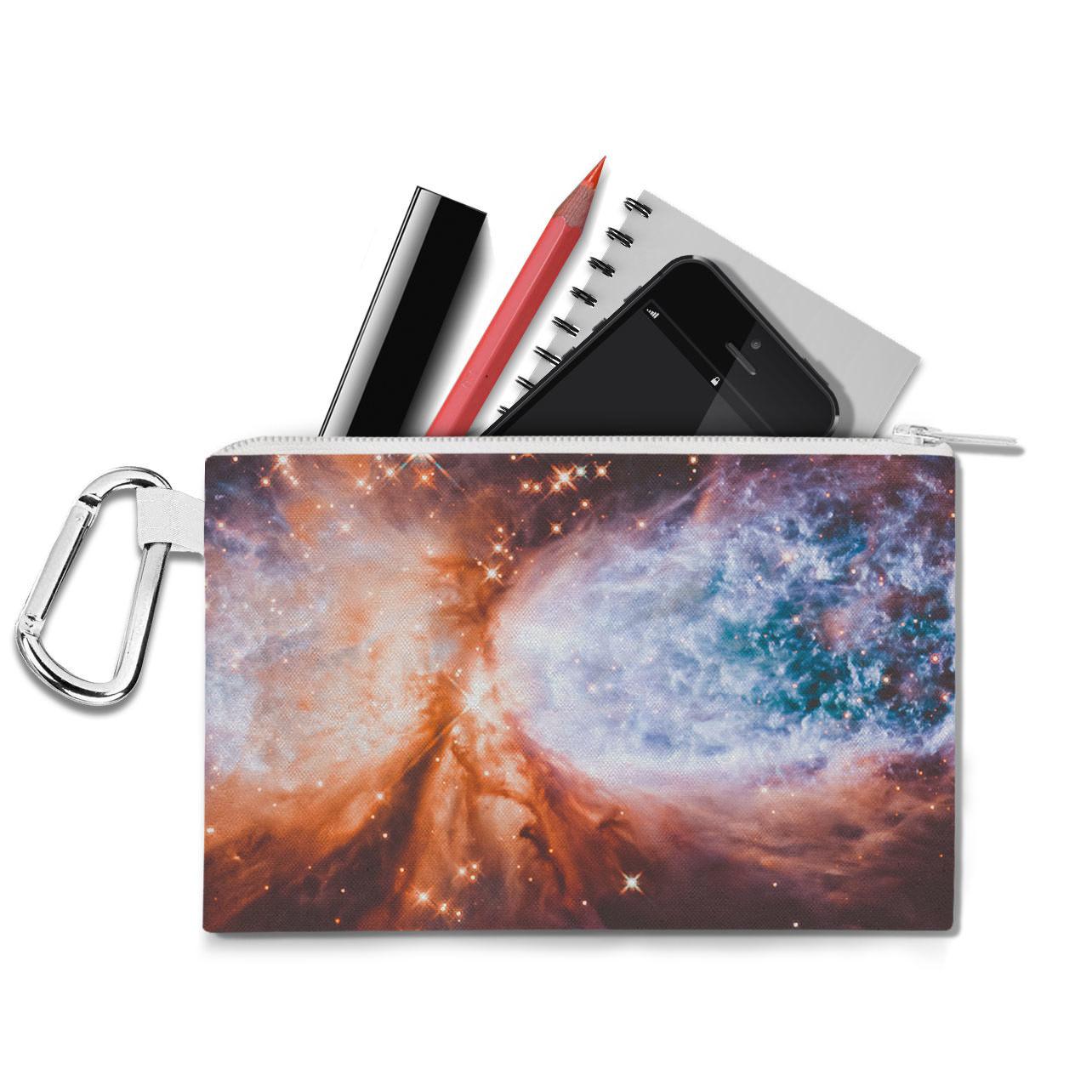 Space Nebula Canvas Zip Pouch