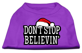 Don't Stop Believin' Screenprint Shirts Purple S (10) - $11.98
