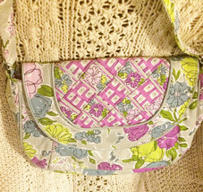 Vera Bradley Crossbody Shoulder Flap bag WATERCOLOR excellent preowned c... - $19.59