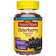 Nature Made Elderberry 100mg with Vitamin C & Zinc Gummies, 60 count. - $25.73