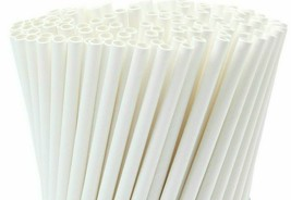 Paper Straw 100% Biodegradable  6mm  7 3/4 inches White Drinking Straws ... - $1.448,43 MXN