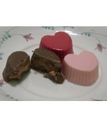 One Dozen Heart Shaped Peanut Butter or Caramel Cups - $14.00