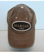 Marian College  Baseball Cap Brushed Cotton One Size Adjustable - $7.99