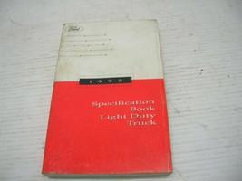 1995 Ford Light Duty Truck Specification Book FSM-11 - $12.86