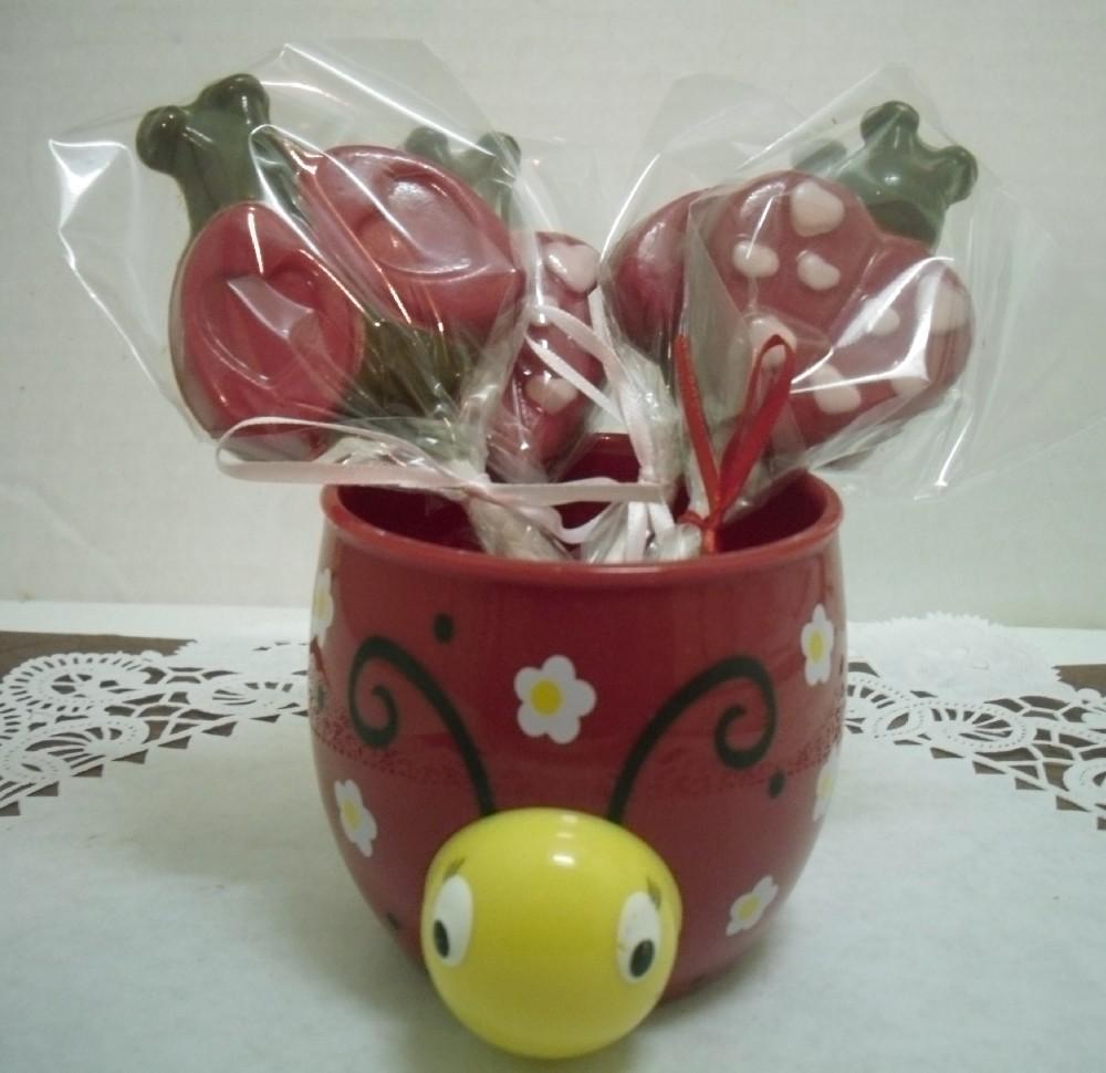 A dozen Love Bug lollipops