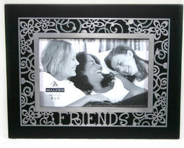Black and Silver Friends Photo Frame by Malden 4x6 - £9.98 GBP