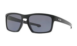 Oakley Men's Sliver OO9262-01 Rectangular Sunglasses, Matte Black, 57 mm - $99.99