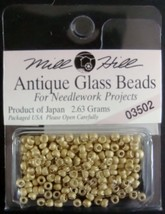 Mill Hill Antique Glass Beads for Needlework Projects 03502 Satin Willow - $1.25