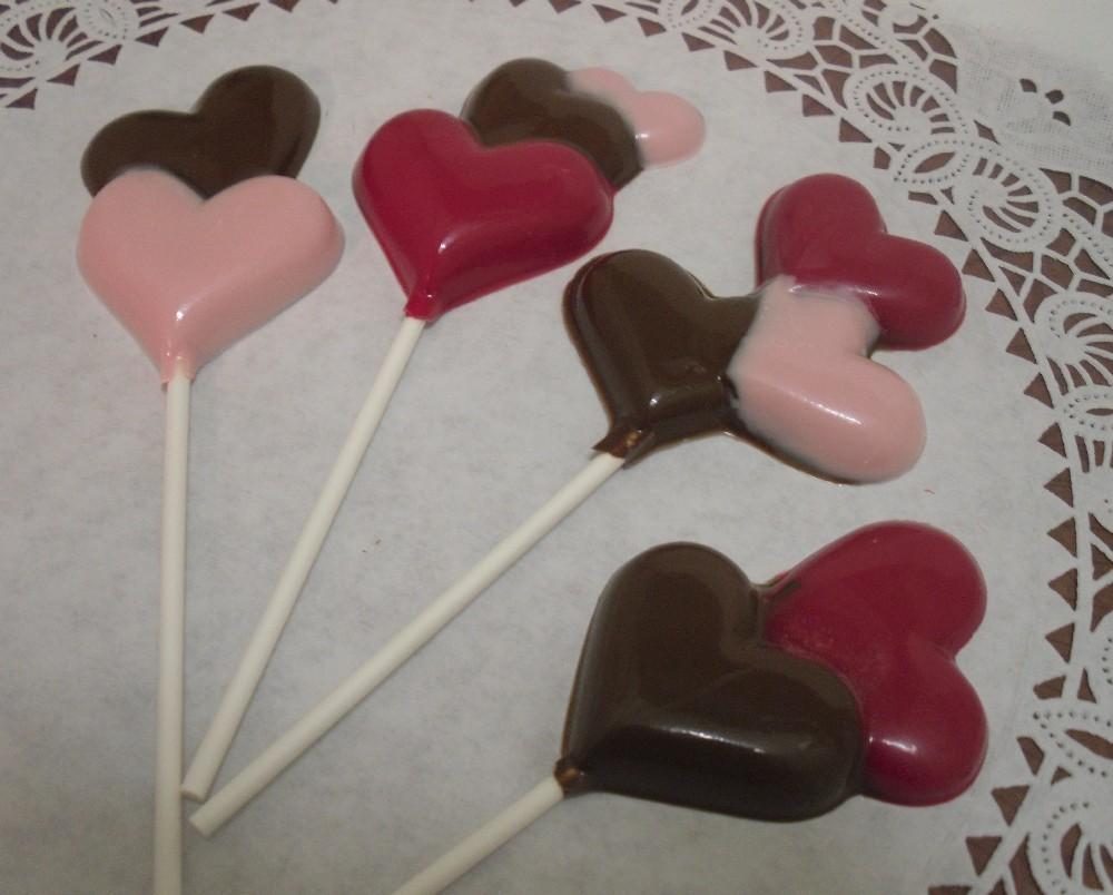 A Dozen Multiple Hearts Lollipops