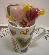 A dozen heart and arrow lollipops - $15.00