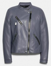 COACH UPTOWN RACER LEATHER JACKET 34021-LIGHT WISTERIA-Size Med-NWT-MFSRP $898 - $593.95